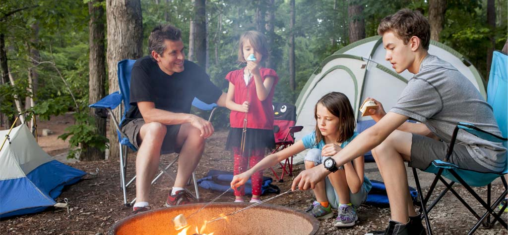 summer, outdoors, camping, single parents